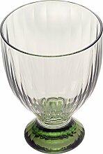 Villeroy & Boch Artesano Original Vert kleines aus hochwertigem Kristallglas in Grün, 11 cm Weinglas, Porzellan, Weiß, 10 x 10 x 11.2 cm