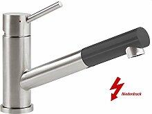 Villeroy & Boch Como Shower Graphit Niederdruckarmatur Grau Küchen-Armatur Spüle