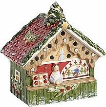 Villeroy & Boch Nostalgic Christmas Market Werkbank Dekoration, Porzellan, Grün, 17x 12x 18.2cm