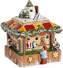 Villeroy & Boch Nostalgic Christmas Market Werkbank des Spielzeug, Porzellan, Braun, 15x 15x 16.7cm