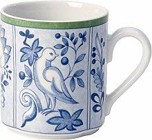 Villeroy & Boch Switch 3 Cordoba Kaffeebecher, aus ansprechendem Hartporzellan, 300 ml Becher, Porzellan, Blau, 10 x 10 x 8 cm