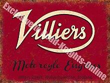 Villiers Motorrad Engines Vintage Motorrad Garage Metall/Stahl Wandschild - 20 x 30 cm