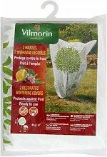 VilmorinSchutzhülle für Überwinterung, verziert mit Motiv Olivenbaum Vilmorin, PP, 50g/m,² Weiß, 1,60m x 1,60m, 2Stück