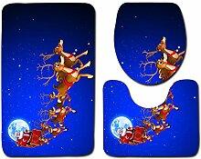 Vim Tree001 Badteppich-Set 3-teilig mit
