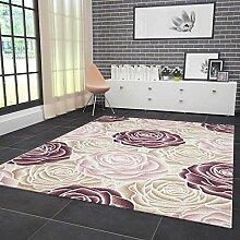 VIMODA Designer Teppich Modern Hoch Tief Effekt