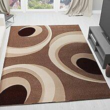 VIMODA Moderner Designer Teppich mit Kreis