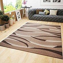 VIMODA Moderner Teppich Design in Beige Braun mit