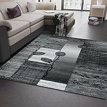 VIMODA Moderner Wohnzimmer Teppich Grau, Schwarz,