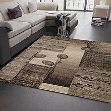 VIMODA Moderner Wohnzimmer Teppich Naturfarben