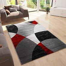 VIMODA Roter Teppich Wohnzimmer Schlafzimmer