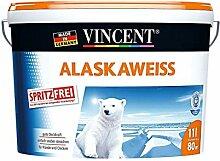 Vincent 11 Liter Alaskaweiß Wandfarbe