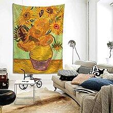 Vincent Van Gogh Sonnenblume Gelb Kunst Tapisserie