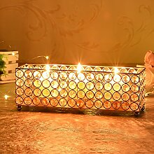 VINCIGANT Golden 3-Kerze Teelichtgläser/Kerzentablett/Kerzenabdeckung for Hochzeit Dekoration