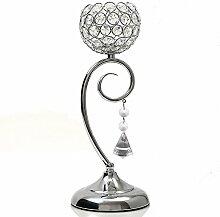 VINCIGANT Silber Kristall Tisch Kerzenhalter Lampe