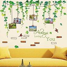 Vines Bilderrahmen Vögel grün Blätter Wand