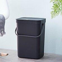 VING Wand-mülleimer,Kreative persönlichkeit mode haushalt kunststoff küche hängen mülleimer abfalleimer mülleimer mit deckel 12l-G 25x19.5x35cm(10x8x14inch)