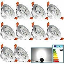 VINGO® 10er Pack 3W 230V LED Einbaustrahler