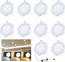 VINGO® 10X 6W Ultraslim LED Panel Einbaustrahler