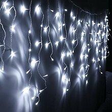 VINGO 20m 600 LED Eisregen Lichternetz Kaltweiß