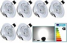 VINGO® 3 Watt Einbaustrahler LED Beleuchtung in 3