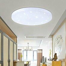 VINGO® 50W LED Wand-Deckenleuchte Weiß rund