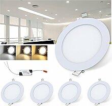 VINGO® 5X 6W LED Panel Leuchte - LED Einbau