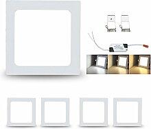 VINGO® 5x 9W Ultraslim LED Panel Einbaustrahler