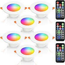 VINGO 6 Pack LED Einbaustrahler 5W RGB Farbwechsel