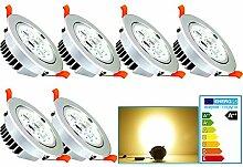 VINGO® 6 Stücke 7W LED Einbaustrahler 230V