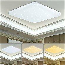 VINGO® 60W LED Wand-Deckenleuchte Farbwechsel Eckig Himmel Deckenlampe Sternenhimmel Schlafzimmer Kinderzimmer Leuchte