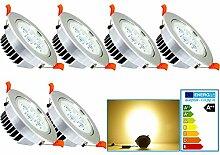 VINGO® 6er-Pack 5W LED Einbaustrahler Warmweiß