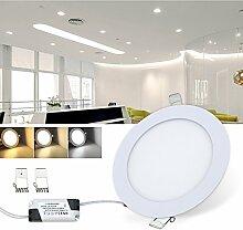 VINGO® 6W LED Panel Leuchte Deckenleuchte