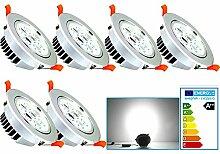 VINGO® 7W LED Einbaustrahler Einbauspots für