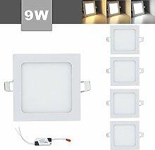 VINGO 9Wx5 Einbauleuchte LED Panel Farbwechsel 3