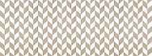 viniliko Teppich Chevron 3, Vinyl, braun und weiß, 66x 180x 3cm