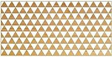 viniliko Teppich Dreiecke, Vinyl, braun und weiß, 50x 100x 3cm