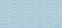 viniliko Teppich Hexagon, Vinyl, blau, 66x 150x 3cm