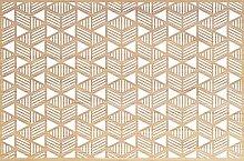 viniliko Teppich Labyrinth, Vinyl, braun und weiß, 66x 100x 3cm
