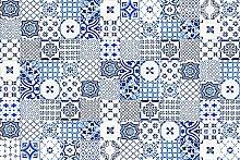 viniliko Teppich Lissabon, Vinyl, blau, 133x 200x 3cm