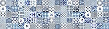 viniliko Teppich Lissabon, Vinyl, blau, 80x 300x 3cm