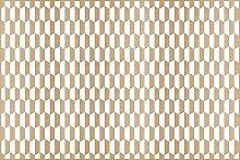 viniliko Teppich Panel, Vinyl, braun und weiß, 133x 200x 3cm