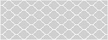 viniliko Teppich Quatrefoil, Vinyl, grau, 66x 180x 3cm