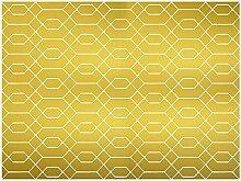 viniliko Teppich, Vinyl, goldfarben, 100x 133x 3cm