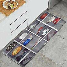 VINISATH Küchenteppich,Hantel Darts Basketball
