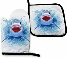 Vinkde Shark Head Cartoon Basketball Küchenofen
