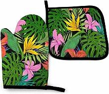 Vinkde Tropische Blumen Sommer G Quadrate Dreiecke
