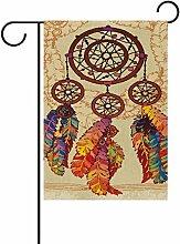 vinlin Garten Flagge Dreamcatcher mit Federn