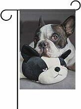 vinlin Garten Flagge Französische Bulldogge mit