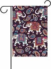 vinlin Garten Flagge Indischen Stil Ornament mit