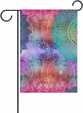 vinlin Garten Flagge Muster mit Mandalas